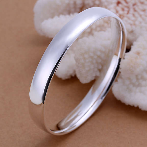 925 Silver Solid Bangle From Belgium