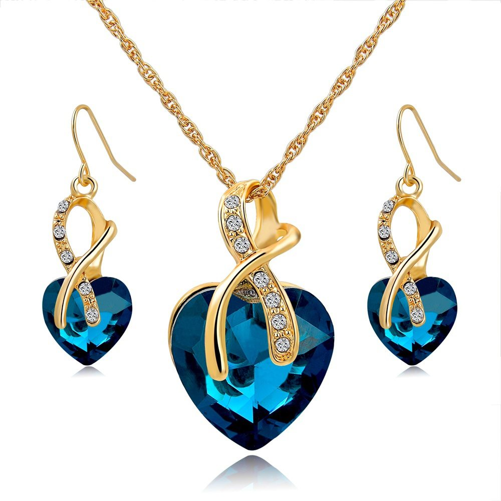 Austrian swarovski crystal necklace earring set amosh european austrian swarovski crystal necklace earring set aloadofball Image collections