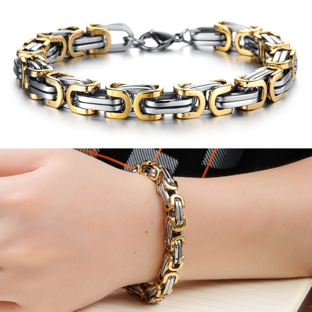 German 18k Mens Bracelet Amosh European Jewellery