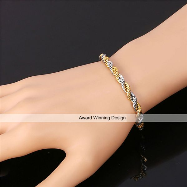 rose fashion bracelet christmas bangles accessories sterling from twisted charms clover product chain gold sh jewelry women cz link bracelets for silver lady