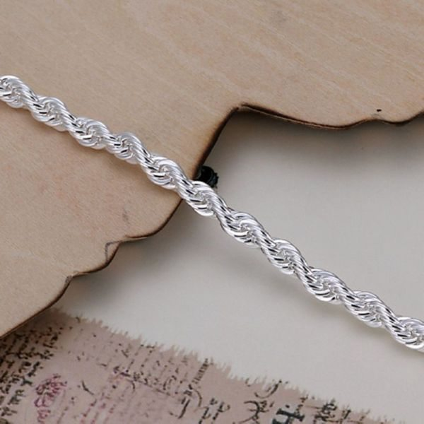 Scottish Silver Twist Bracelet